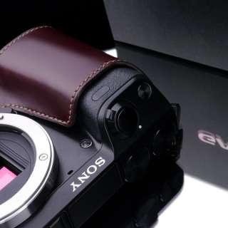 New leather camera half case for Sony NEX 7 E body   Brown