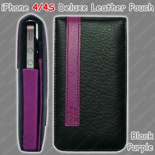 GENUINE Mossimo Deluxe Leather Pouch for Apple iPhone 4