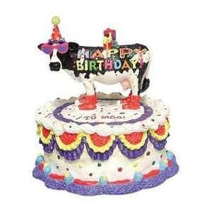 Happy Birthday Cow Figurine