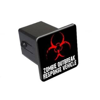 Zombie Outbreak Response Vehicle   2 Tow Trailer Hitch Cover Plug