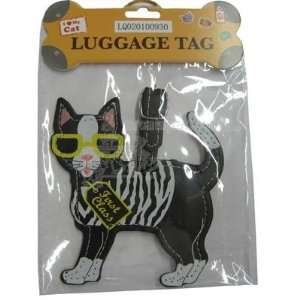 Luggage Tag I Love My Cat  Pet Supplies