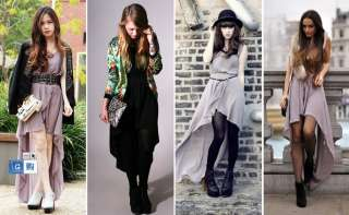 Womens Black/Beige Jumper Dress Cocktail Dress Chiffon Evening Dress S