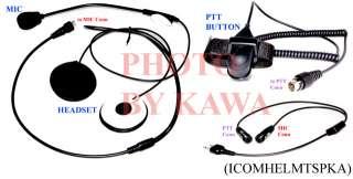Full face Helmet Headset for Icom/Stardard/Cobra Radio