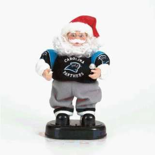Carolina Panthers Nfl Animated Rock & Roll Dancing Santa (12