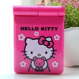Hello Kitty Plastic Pocket Mirror Compact w/ Light Pink