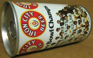 IRON CITY BEER ss Can 1975 PITTSBURGH STEELERS Football