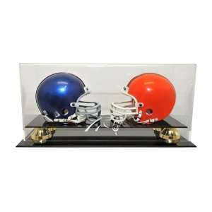 Carolina Panthers Double Mini Helmet Display Case with
