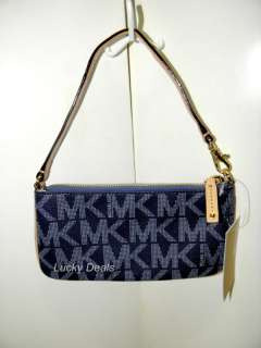 MICHAEL KORS JE SE MK Logo SMALL WRISLE PVC ROYAL coin purse bag