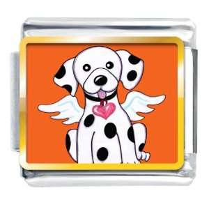 Dalmatian Dog From Heaven Animal Photo Valentine Hearts Italian Charms