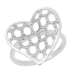 0.20 Carat 18kt White Gold Diamond Ring Jewelry