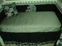 Baby Nursery Crib Bedding Set w/Oakland Raiders fabric