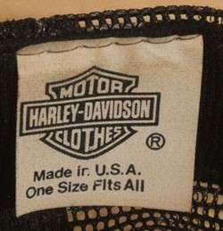 VTG 70s 80s HARLEY DAVIDSON MOTORCYCLE BIKER SNAPBACK CAPS HATS