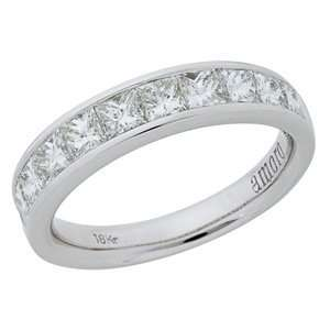 1.51 Carat 18kt White Gold Diamond Anniversary Ring
