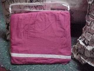 5pc TWIN Decree Comforter +2 Pillows, Ink n Pen,Modern,Pink,Teal Blue