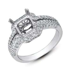 White Gold Engagement Ring Jewelry