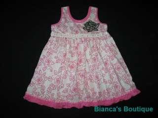 NEW ROSE FANCY RUFFLE Dress Girls Summer Clothes 24m