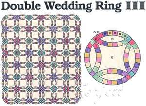 Double Wedding Ring Quilt Block & Quilt quilting pattern & templates