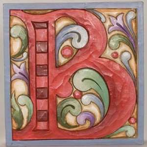 Jim Shore Monogram Red Alphabet Letter Display B NEW