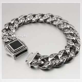 Cool 316L Stainless Steel Mens Bracelet 4R013B