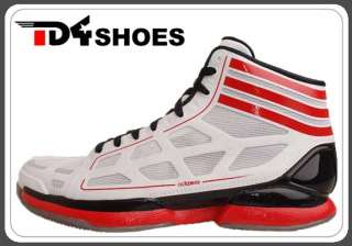 Adidas adiZero Crazy Light White Black Grey 2012 Rose 2 Basketball