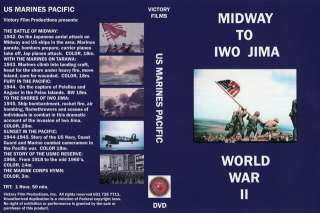 US Marine Corps in WWII Midway to Iwo Jima   DVD
