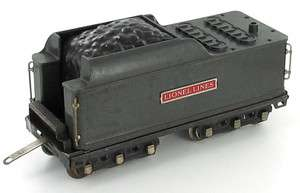 LIONEL 392w GUN METAL GRAY PRE WAR WHISTLING COAL TENDER STANDARD