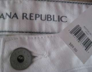 NWT 12 Petite Women $89 Zipper Ankle Jean Pants White Denim 31P
