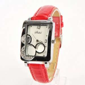 Mickey Mouse Head Wrist Watch Wristwatch Red: Toys & Games