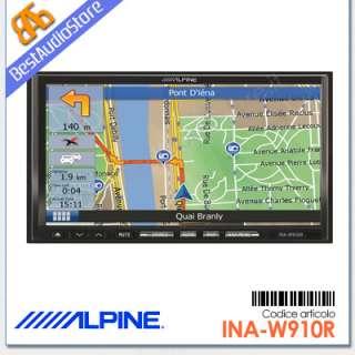 Alpine INA W910R Autoradio 2DIN DVD Navigatore GPS BT