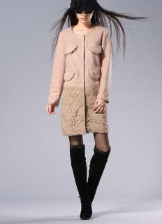 Cutout Round Neck Long Sleeve Lace Edge New Stylish Fashion Outerwear