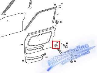 Auto Pro. Door Paneling Clip Mercedes Benz Classic Models W107 W108