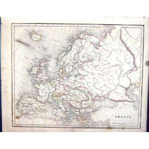 Antique Map 1855 ope Iceland Russia Austria Italy Home & Kitchen