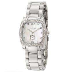 Skagen Womens Glitz Stainless Steel Swarovski Crystals Quartz Watch