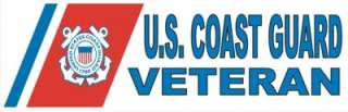IN USA BUMPER STICKER DECAL USCG U.S. COAST GUARD IS A VETERAN