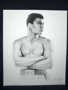 Muhammad Ali Gary Saderup Everlast Boxing Lithograph