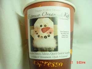 Designs Expresso Snow Mitten Kit# 740 Ornament Kit Quilt Pattern