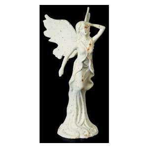 Large Cast Iron Girl Angel Garden Statue Yard Decor Art