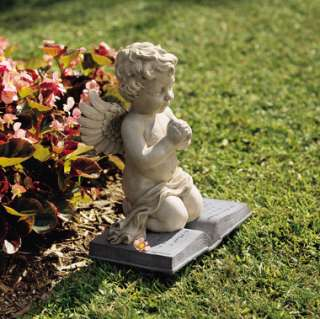 Sculpture Wings Praying Angel Angelic Garden Design Toscano