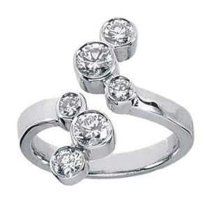 Ladys Round Cut Diamond Anniversary Wedding Band in PlatinumSize 11.5