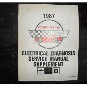 1987 Chevrole Chevy Corvee Elecrical Service Manual