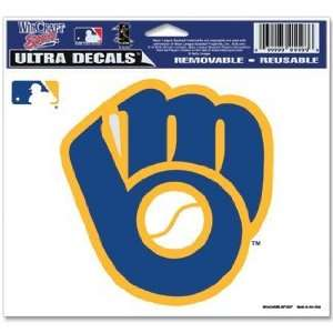 Milwaukee Brewers Decal Vintage Logo: Sports & Outdoors