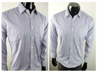 USC6803 New Mens Stripes Casual Shirts Fashion Style 2 Color BLUE and