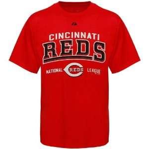MLB Majestic Cincinnati Reds Red Built Legacy T shirt