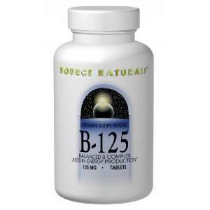 Vitamin B 125 180 Tabs 125 Mg (Balanced B Complex) Health