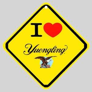 New Order  I Love Yuengling Beer  New Logo Car Window Sign