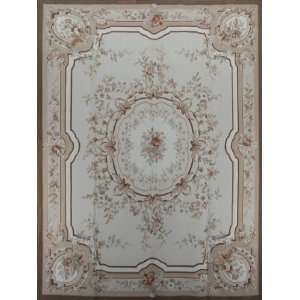French Hand Weave Hand Hooked Aubusson Area Rug S158