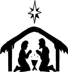 Nativity Baby Jesus Christmas Vinyl Wall Decor Decal NW