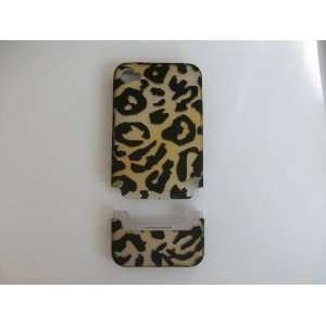 iPhone 4G Combo Black Yellow Leopard Hard Phone Case Protector Cover
