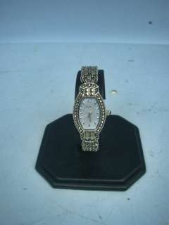 Ladies Elegant Elgin Marcasite Quartz Watch   Stunning