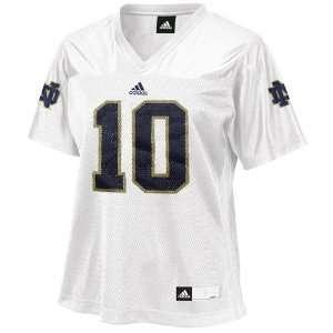 : NCAA adidas Notre Dame Fighting Irish #10 Womens Fashion Football